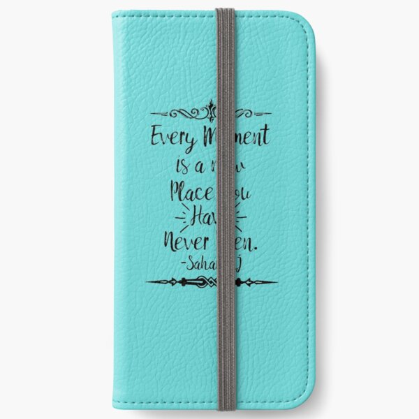 """""""Every Moment is a new place"""" poetry series iPhone Wallet"""