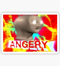 Angery meme man Sticker