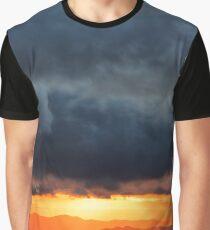 Smoky Mountains Sunset Rapture Graphic T-Shirt