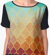 Art with gold 02 Women's Chiffon Top