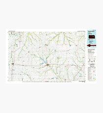USGS TOPO Map Kansas KS Council Grove 801581 1985 100000 Photographic Print