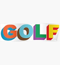 Multi-color 3D Golf Wang Poster