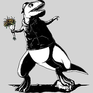 Flower Thrower T-rex Grafitti  by pigboom