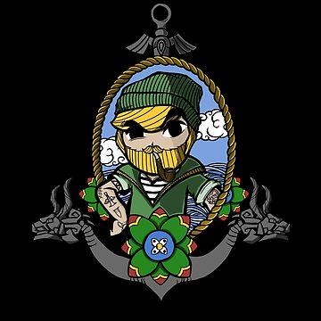 Legend Of Zelda - Sailor Link by Seignemartin
