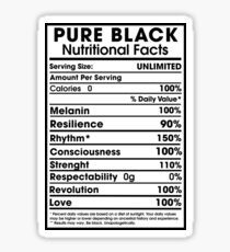 Pure Black - African American Pride Sticker
