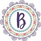 Monogramm-Buchstabe B | Personalisiert | Böhmisches Design von PraiseQuotes