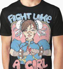 Fight Like A Girl - Chun Li (Street Fighter) Graphic T-Shirt
