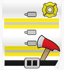 Firefighter Uniform Costume - Hallowwen Poster