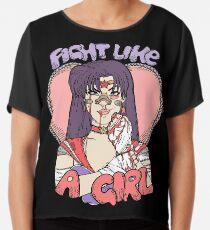Sailor Moon - Fight Like A Sailor (Sailor Mars) Chiffon Top