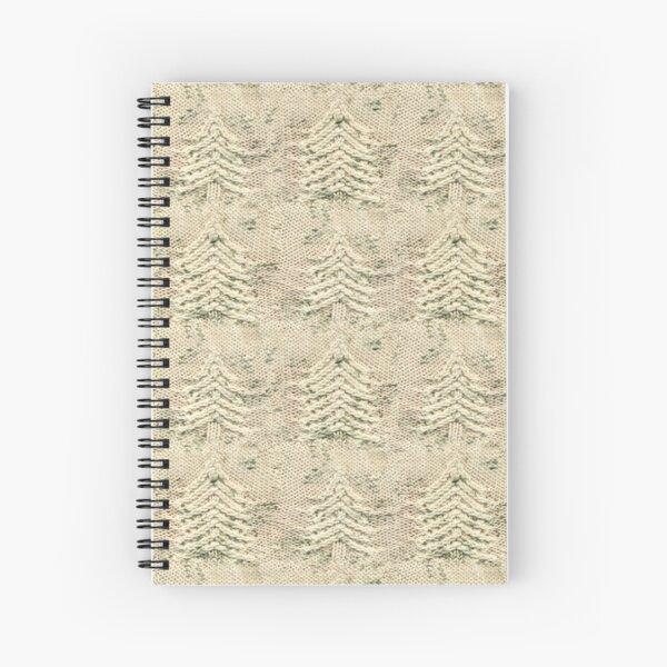 Siskiyou Trees Knit Spiral Notebook