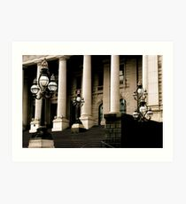 ~Columns and Lamposts~ Art Print
