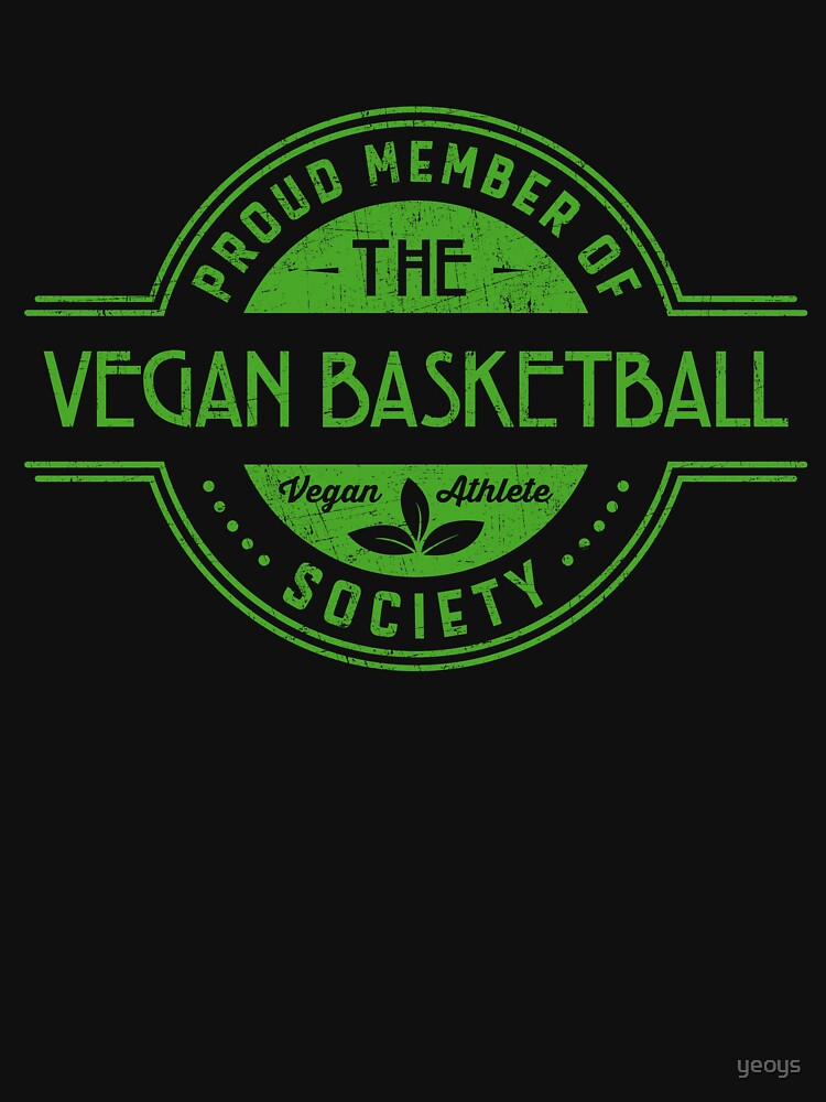 Vegan Basketball Athlete Society Club Member Gift von yeoys