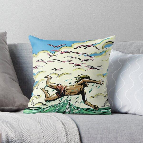'mo swim' Throw Pillow