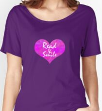 Open Heart || Read & Smiles Women's Relaxed Fit T-Shirt