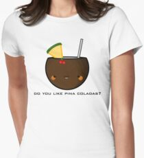 pina colada Women's Fitted T-Shirt