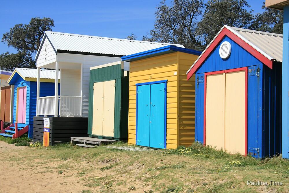 Beach Huts at Dromana by Pauline Tims