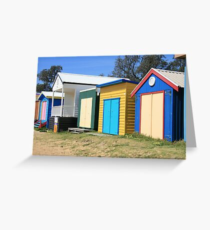 Beach Huts at Dromana Greeting Card
