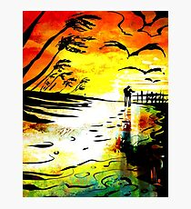 'vivid beach' Photographic Print