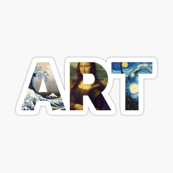 Famous Works Of Art | For Artists Sticker