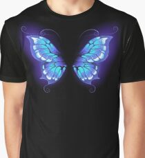 Glowing butterfly wings ( Blue wings ) Graphic T-Shirt