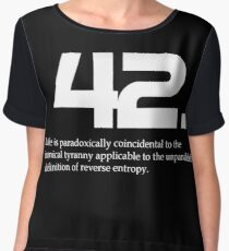 The meaning of life is 42 - Hitchhiker's Guide to the Galaxy Chiffon Top