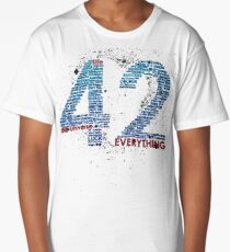 Life, The Universe, and Everything- Hitchhiker's Guide to the Galaxy Long T-Shirt