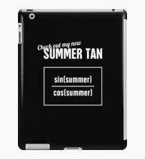Summer Tan - Funny Statistics Teacher Design iPad Case/Skin