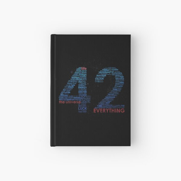 Life, The Universe, and Everything- Hitchhiker's Guide to the Galaxy Hardcover Journal