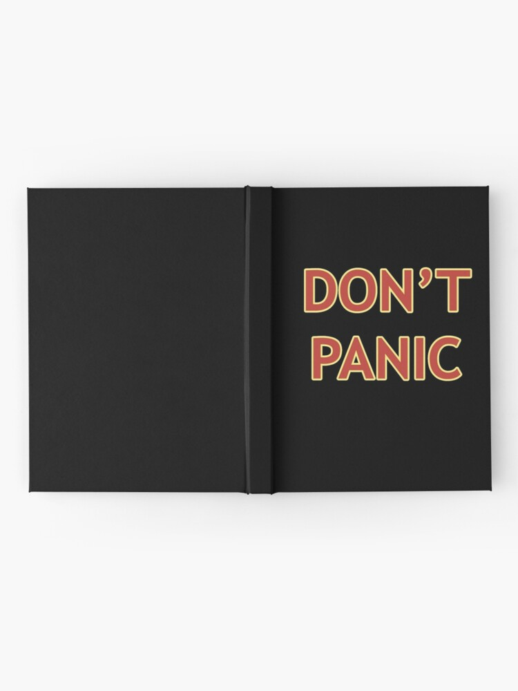 Alternate view of Don't Panic - Hitchhiker's Guide to the Galaxy Hardcover Journal