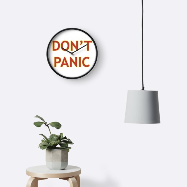 Don't Panic - Hitchhiker's Guide to the Galaxy by Travis McGee