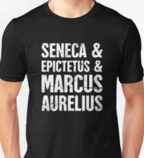 Famous Stoics   Stoicism Design Slim Fit T-Shirt