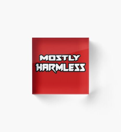 Mostly Harmless - Hitchhiker's Guide to the Galaxy Acrylic Block