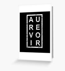 Stylish Au Revoir French Greeting Card