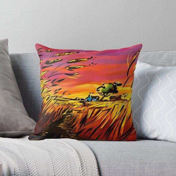'prairie sunsets' Throw Pillow