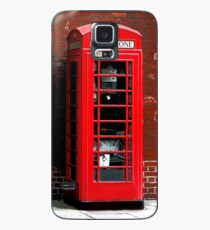 Red Phone Box- London England UK Case/Skin for Samsung Galaxy