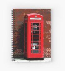 Red Phone Box- London England UK Spiral Notebook