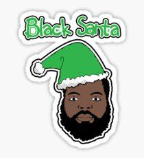 Black Santa Sticker