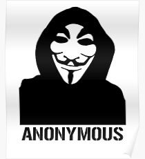 Anonymous Masked Protest  Poster