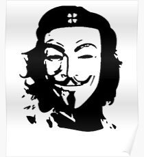 Anonymous Che Guevara Mask Protest Poster