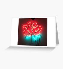 neon rose Greeting Card