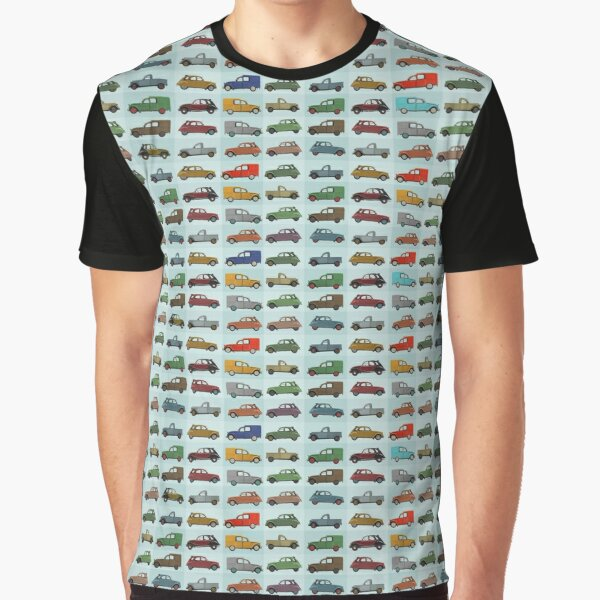 Citroën 2CV pattern Graphic T-Shirt