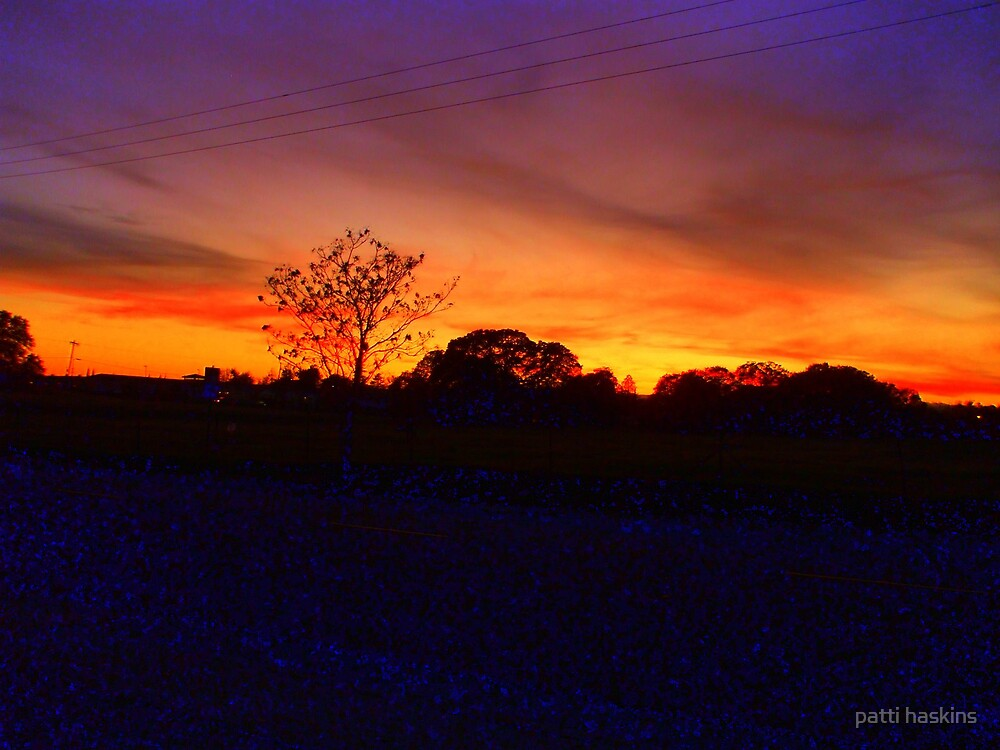 Red Bluff Sunset by patti haskins