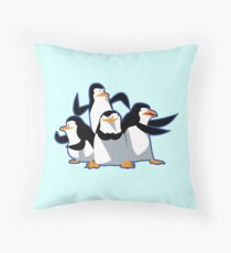 The cutest penguins Throw Pillow