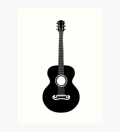 Akustische Gitarre Silhouette Kunstdruck