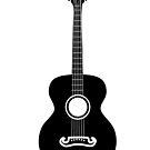 Akustische Gitarre Silhouette von AnnArtshock