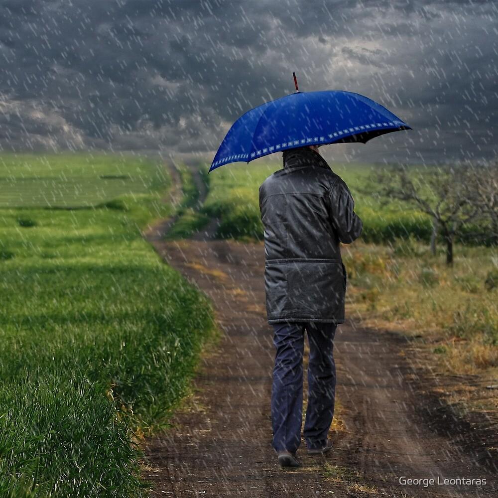 The blue walker by George Leontaras