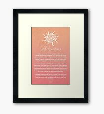Affirmation - Self-Acceptance Framed Print