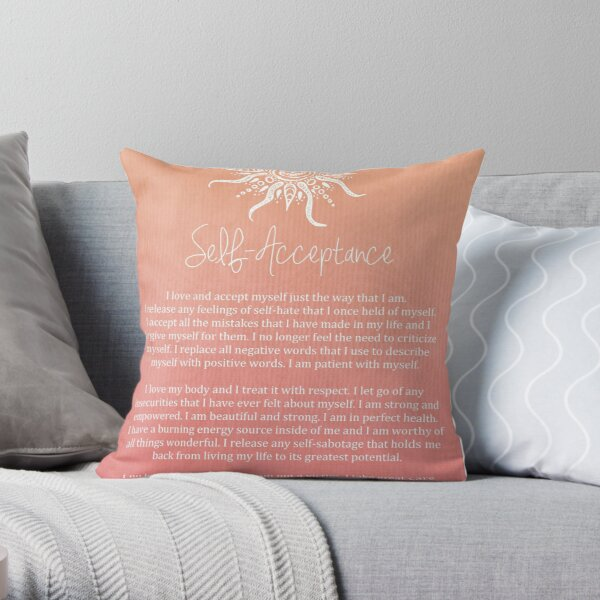 Affirmation - Self-Acceptance Throw Pillow