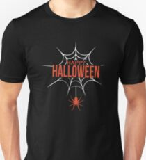 Happy Halloween Spiderweb Unisex T-Shirt