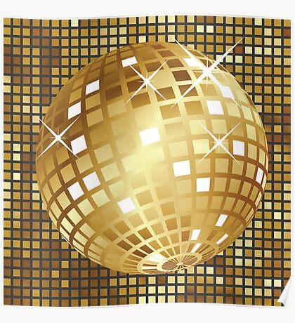 Goldene Discokugel Poster
